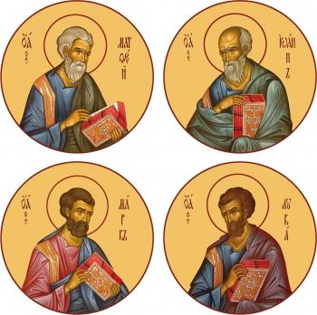 """Евангелисты """"Канон золочение"""" (арт.462-65)"""