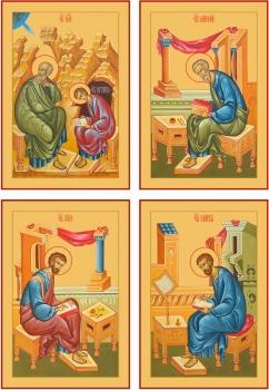 """Евангелисты """"Канон золочение"""" (арт.6488-91)"""