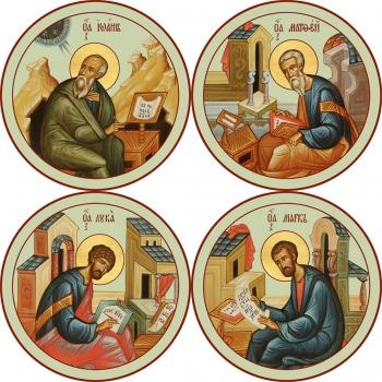 """Евангелисты """"Канон золочение"""" (арт.6497-99)"""