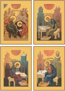 """Евангелисты """"Канон золочение"""" (арт.468-71)"""