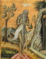 Онуфрий Великий преподобный, икона (арт.00050)