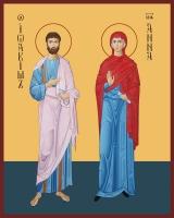 Иоаким и Анна праведные богоотцы, икона (арт.00069)