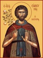 Евфросин Палестинский, повар, преподобный, икона (арт.00096)