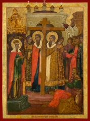 Воздвижение Честного и Животворящего Креста Господня, икона (арт.03050)