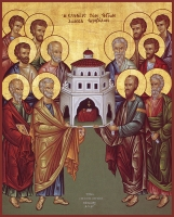 Собор славных и всехвальных 12-ти апостолов, икона (арт.00604)