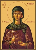 Ирина Каппадокийская (Хрисоволанта) преподобная, икона (арт.06551)