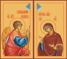 Благовещение Пресвятой Богородицы, иконы на Царские Врата (арт.06654)