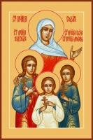 Вера, Надежда, Любовь и их матерь София мученицы, икона (арт.00908)