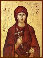 Евдокия Илиопольская преподобномученица, икона (арт.00974)