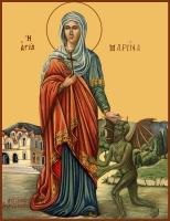 Марина великомученица, икона (арт.00996)