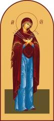 Семистрельная, икона Божией матери (арт.00215)