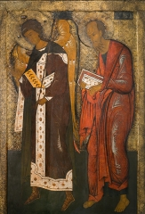Павел апостол и Гавриил архангел, деисус икона (арт.04424)