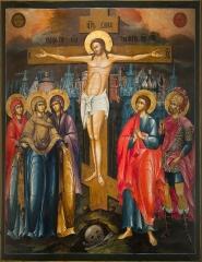 Распятие Господа нашего Иисуса Христа, икона (арт.04666)