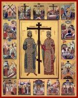 Константин и Елена равноапостольные, икона (арт.06039)