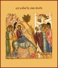 Вход Господень в Иерусалим, икона (арт.00639)