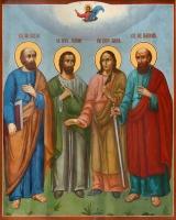 Петр и Павел апостолы, Флор и Лавр мученики, икона (арт.00659)
