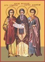 Евлампий, Феофил, Евлампия мученики, икона (арт.06631)