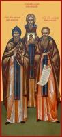 Антоний, Алипий, Феодосий Печерские преподобные, икона (арт.06640)
