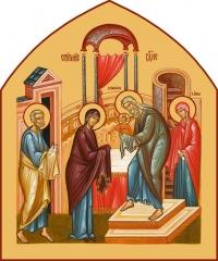 Сретение Господне, икона (арт.06682)