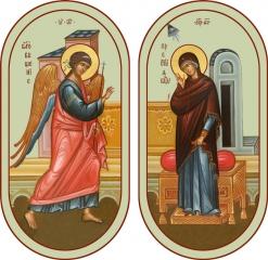 Благовещение Пресвятой Богородицы, иконы на Царские Врата (арт.06684-2)