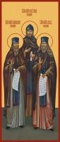 Амвросий, Нектарий, Лев Оптинские, преподобные икона (арт.06688)