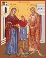 Иоаким и Анна праведные богоотцы, икона (арт.06697)