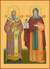 Алексий, митрополит Московскийи и Даниил Московский благоверный князь, икона (арт.06781)