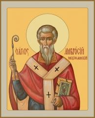 Амвросий Медиоланский, святитель, икона (арт.06791)