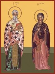 Киприан и Иустина мученики, икона (арт.06973)