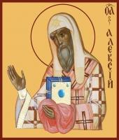 Алексий, митрополит Московский и всея России чудотворец, святитель, икона (арт.00763)